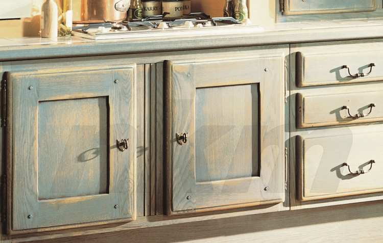 Blaue Küche Landhausstil