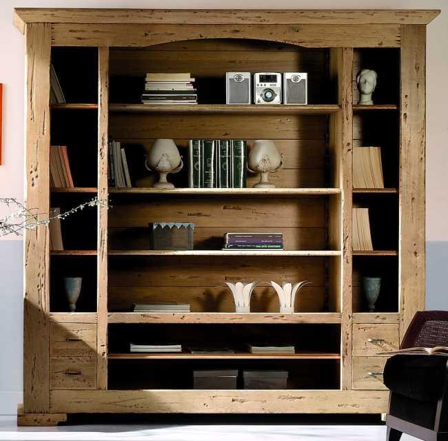 luberon 2557 b cherregal eiche massiv nostalgie retro. Black Bedroom Furniture Sets. Home Design Ideas